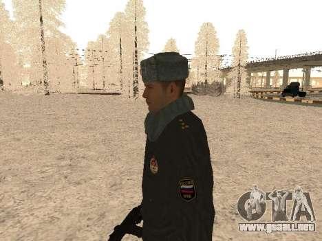 Un capitán de la policía para GTA San Andreas segunda pantalla