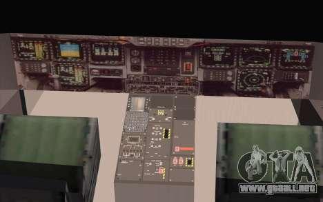 B-2 Spirit para GTA San Andreas vista posterior izquierda