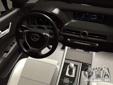 Lexus GS350F Sport para visión interna GTA San Andreas