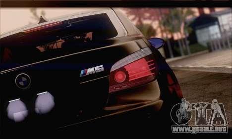 BMW M5 E60 para GTA San Andreas vista hacia atrás