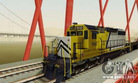 GTA V Trem 2 para GTA San Andreas vista hacia atrás