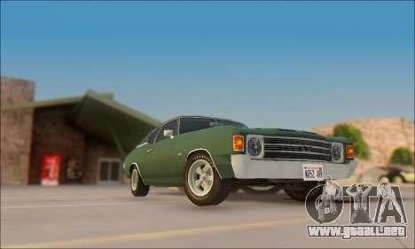 Chevrolet Chevelle SS 454 1971 para GTA San Andreas vista posterior izquierda
