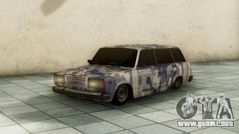 VAZ 2104 En camuflaje para GTA San Andreas vista posterior izquierda