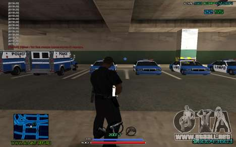 C-HUD by CONVERSION para GTA San Andreas tercera pantalla