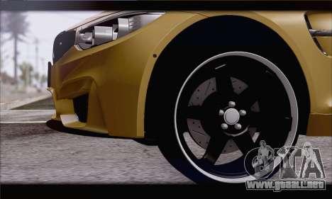 BMW M4 F80 Stanced para GTA San Andreas vista posterior izquierda