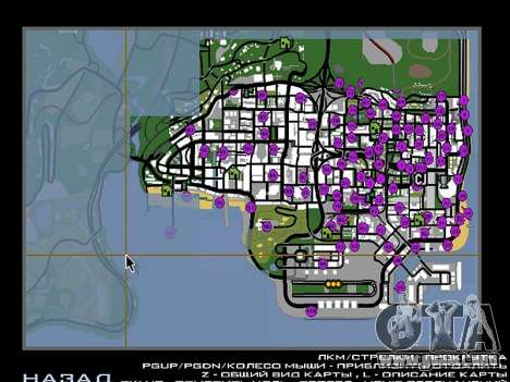 Tags Map Mod v1.0 para GTA San Andreas