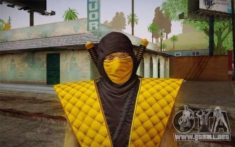 Clásico Escorpión из MK9 DLC para GTA San Andreas tercera pantalla