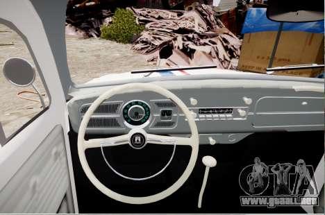 Volkswagen Beetle 1962 para GTA 4 Vista posterior izquierda