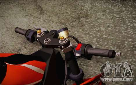 Ninja ZX6R Stunt Setup para GTA San Andreas vista hacia atrás