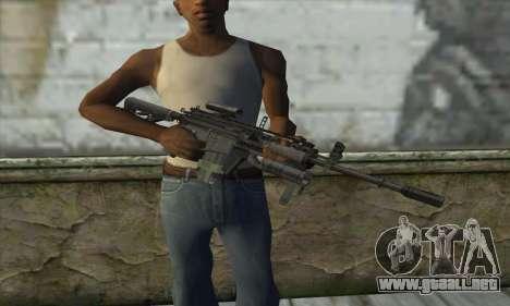 M4A1 из COD Modern Warfare 3 para GTA San Andreas tercera pantalla