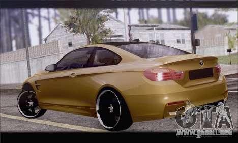 BMW M4 F80 Stanced para GTA San Andreas left