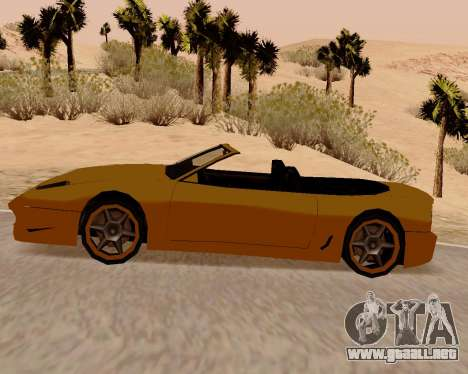 Super GT Convertible para GTA San Andreas left
