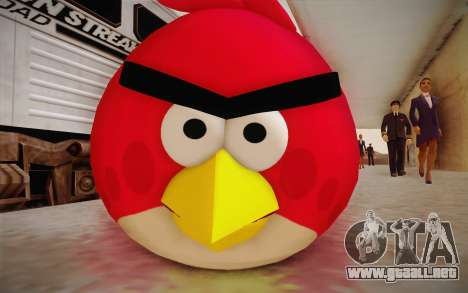 Red Bird from Angry Birds para GTA San Andreas tercera pantalla