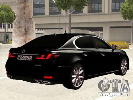 Lexus GS350F Sport para la visión correcta GTA San Andreas