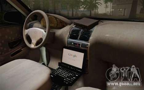 Hyundai Polis TR para visión interna GTA San Andreas