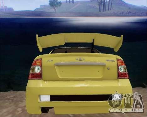 Lada 2170 Priora Tuneable para el motor de GTA San Andreas