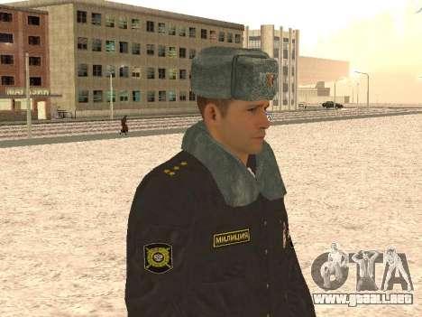 Un capitán de la policía para GTA San Andreas sucesivamente de pantalla