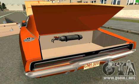 Dodge Charger General lee para GTA San Andreas left