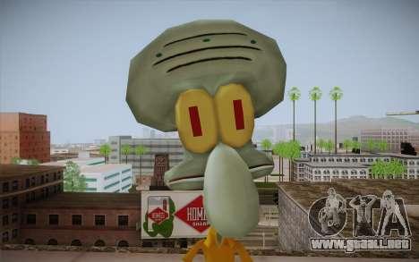Squidward Tentacles para GTA San Andreas tercera pantalla