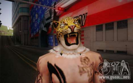 King from Tekken para GTA San Andreas tercera pantalla