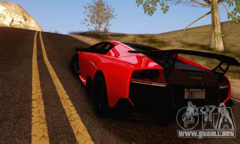 Lamborghini Murcielago LP670-4 SV para GTA San Andreas vista posterior izquierda
