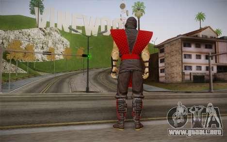 Clásico Ermac из MK9 DLC para GTA San Andreas segunda pantalla