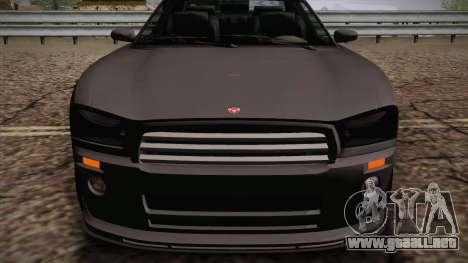 Bravado Buffalo I para GTA San Andreas vista posterior izquierda