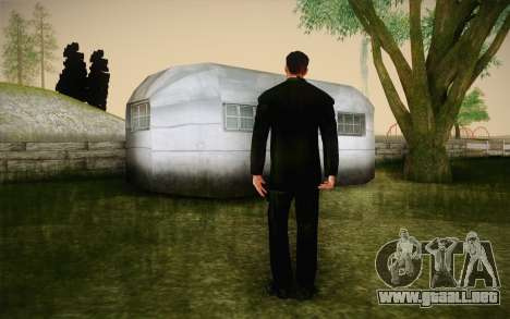 Agent Smith from Matrix para GTA San Andreas segunda pantalla
