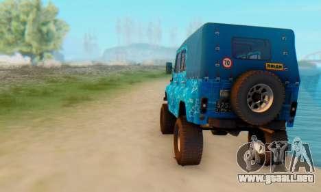 UAZ 469 Blue Star para la visión correcta GTA San Andreas