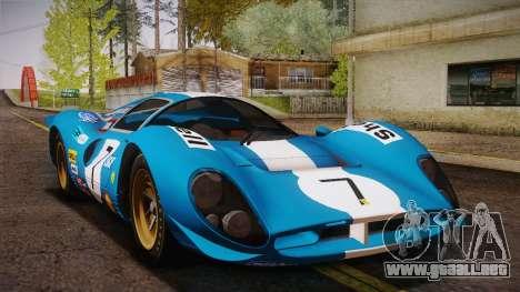 Ferrari 330 P4 1967 HQLM para vista lateral GTA San Andreas