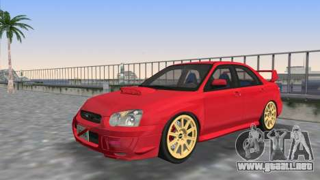 Subaru Impreza WRX STI 2005 para GTA Vice City vista superior