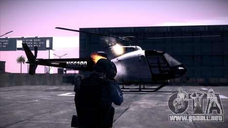 Special Weapons and Tactics Officer Version 4.0 para GTA San Andreas sucesivamente de pantalla