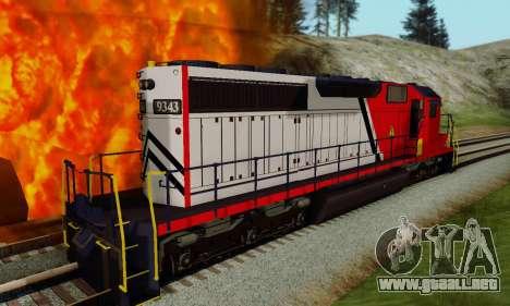 GTA V Trem para GTA San Andreas vista posterior izquierda