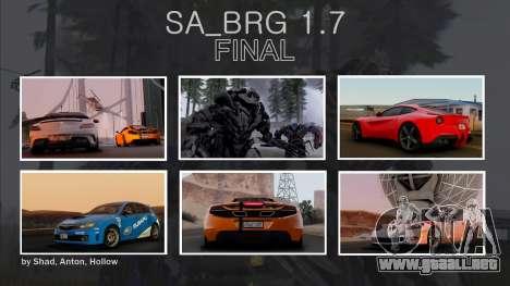 SA Beautiful Realistic Graphics 1.7 Final para GTA San Andreas