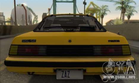 Mazda RX-7 GSL-SE 1985 IVF para la vista superior GTA San Andreas