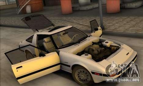 Mazda RX-7 GSL-SE 1985 IVF para GTA San Andreas vista hacia atrás