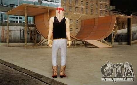 Axl Rose Skin v2 para GTA San Andreas segunda pantalla