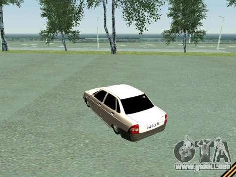 Lada 2170 Priora para visión interna GTA San Andreas