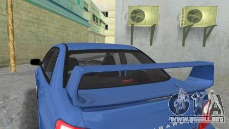 Subaru Impreza WRX STI 2005 para GTA Vice City vista posterior