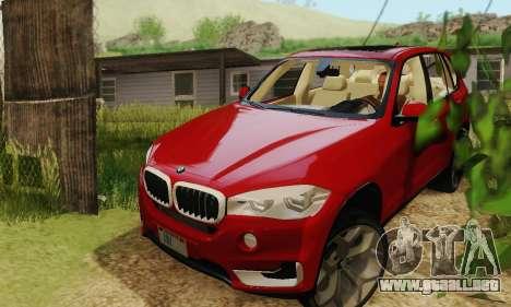 BMW X5 (F15) 2014 para la visión correcta GTA San Andreas
