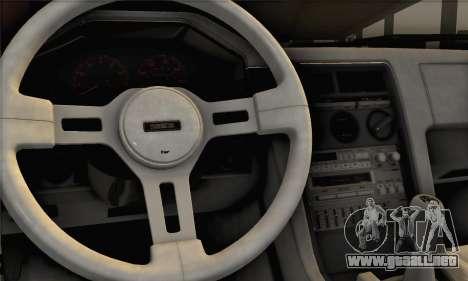 Mazda RX-7 GSL-SE 1985 IVF para GTA San Andreas vista posterior izquierda