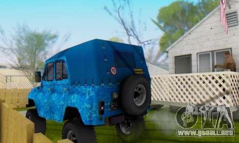 UAZ 469 Blue Star para el motor de GTA San Andreas