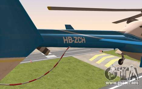 Bell 430 para GTA San Andreas vista posterior izquierda
