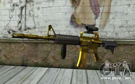 Golden M4 con una vista para GTA San Andreas