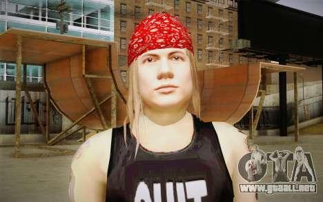 Axl Rose Skin v2 para GTA San Andreas tercera pantalla