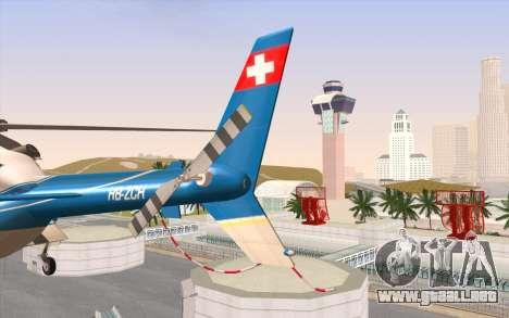 Bell 430 para GTA San Andreas vista hacia atrás