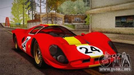 Ferrari 330 P4 1967 HQLM para visión interna GTA San Andreas