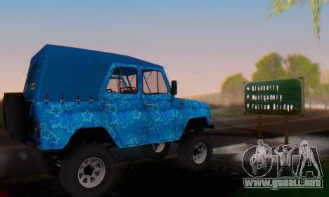 UAZ 469 Blue Star para la vista superior GTA San Andreas