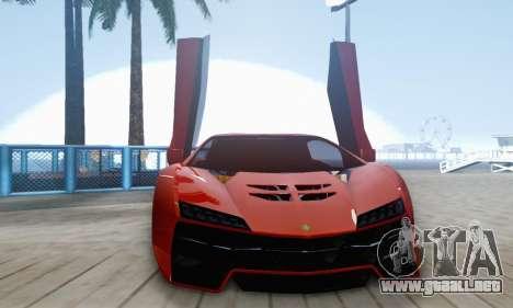 Pegassi Zentorno GTA 5 v2 para la vista superior GTA San Andreas