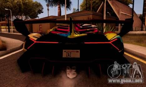 Lamborghini LP750-4 2013 Veneno Stikers Editions para GTA San Andreas vista posterior izquierda